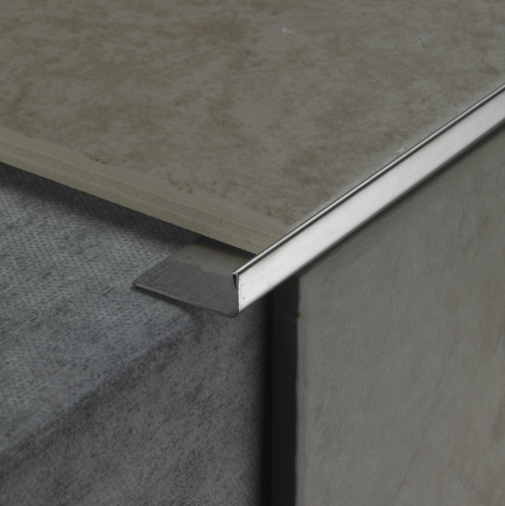 Courtyard metal tile trims tile trim edging and boarder profiles protect the exposed tile edge at outer wall corners and give an attractive neat finish dailygadgetfo Images
