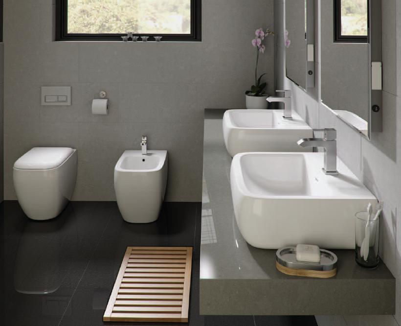 Courtyard metropolitan chic and minimalistic bathrooms for Bathroom ware
