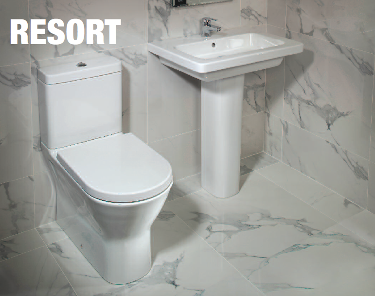 Courtyard resort range featuring rimless wcs for Bathroom ware